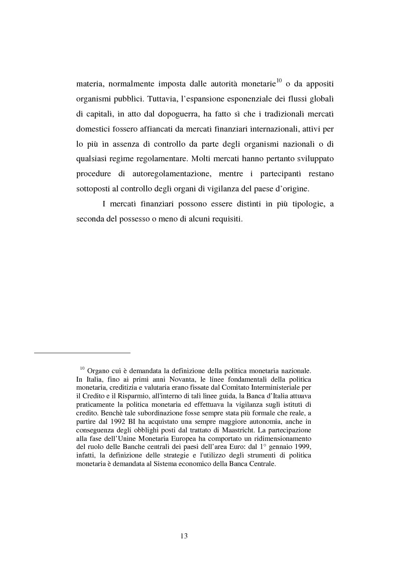 Anteprima della tesi: Le scelte di investimento e la gestione di portafoglio, Pagina 14