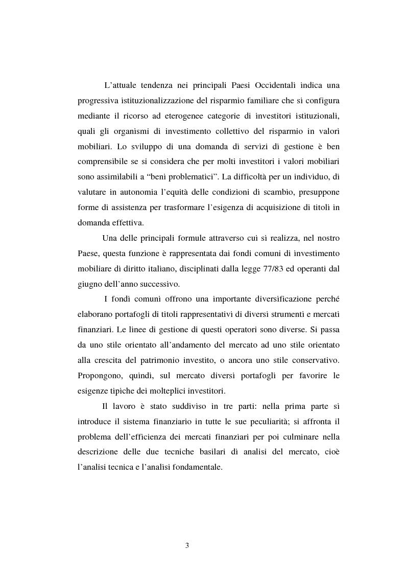 Anteprima della tesi: Le scelte di investimento e la gestione di portafoglio, Pagina 4