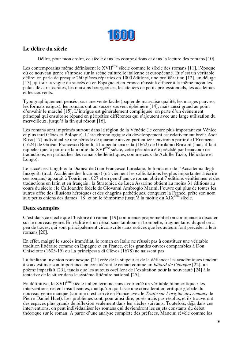 Anteprima della tesi: Le roman corrupteur. Pour et contre le roman en Italie entre XVIIIème et XIXème siècle, Pagina 6