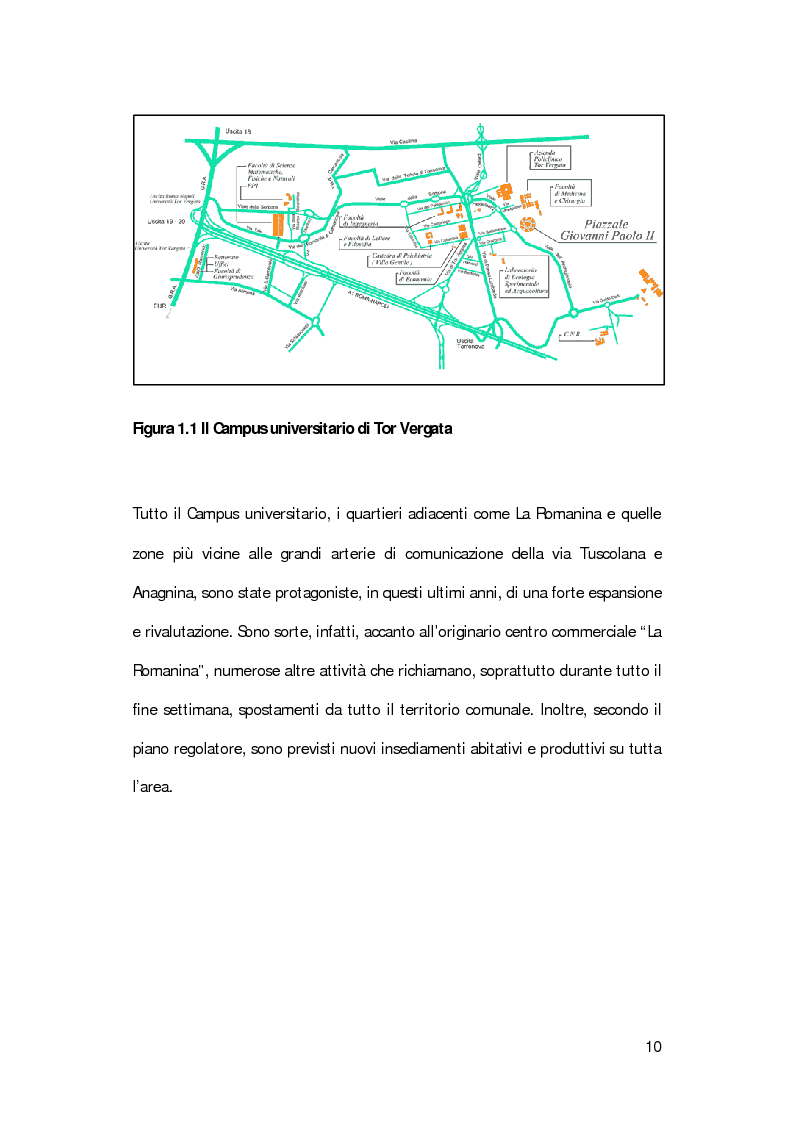 Anteprima della tesi: La mobilità degli studenti universitari: un sistema di modelli per il Campus di Tor Vergata, Pagina 6