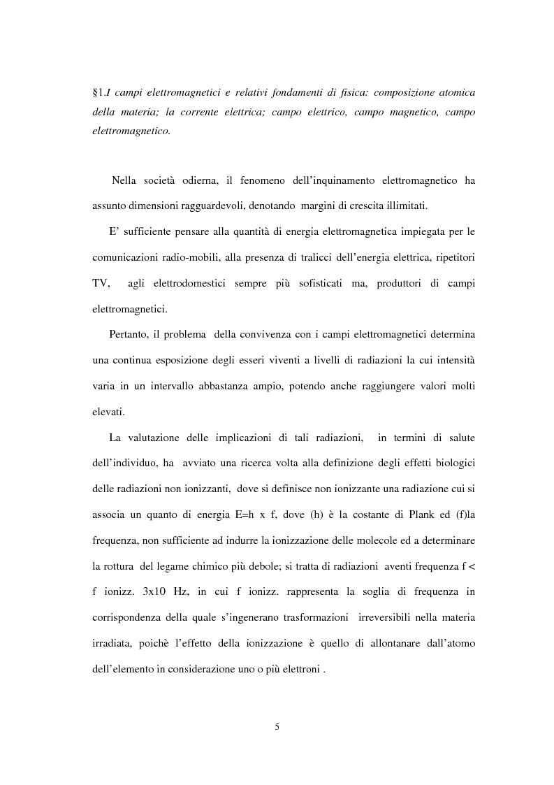 Anteprima della tesi: Il danno da inquinamento elettromagnetico, Pagina 1