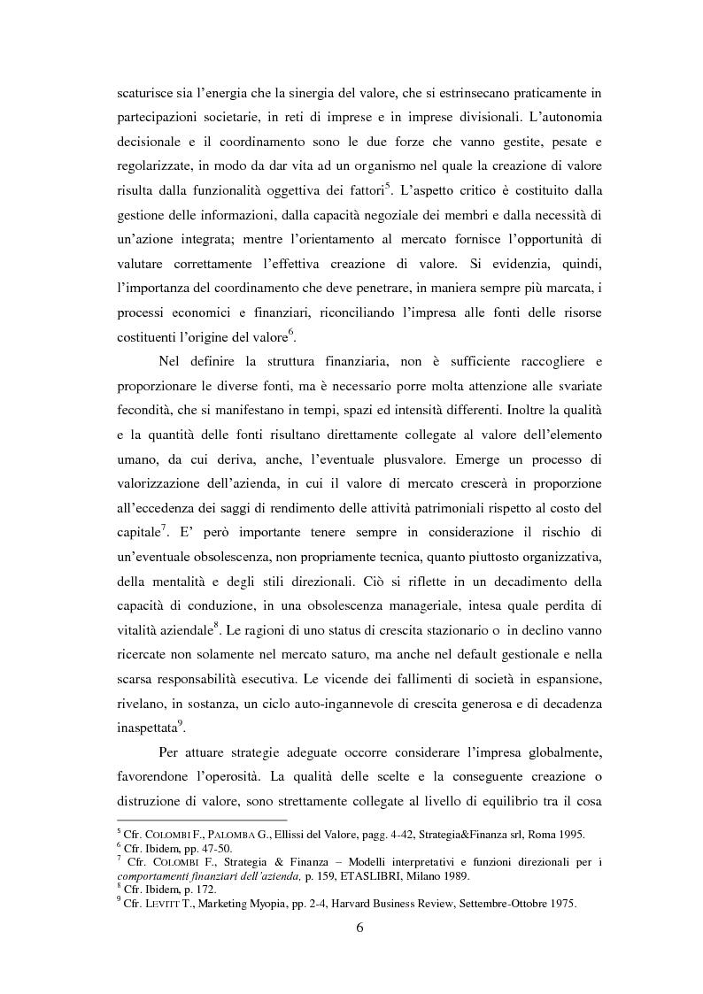Anteprima della tesi: International firm's Excellence - Limiti e paradossi delle valutazioni finanziarie, Pagina 3