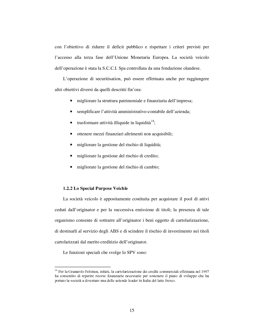 Anteprima della tesi: Strumenti di finanza strutturata: securitisation e covered bond, Pagina 12