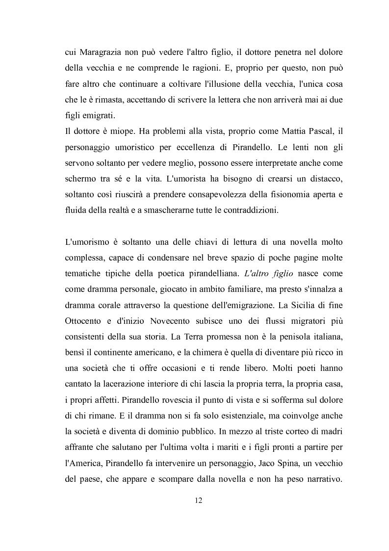 Anteprima della tesi: ''Kaos'' e ''Tu ridi'': i fratelli Taviani interpretano Luigi Pirandello, Pagina 11