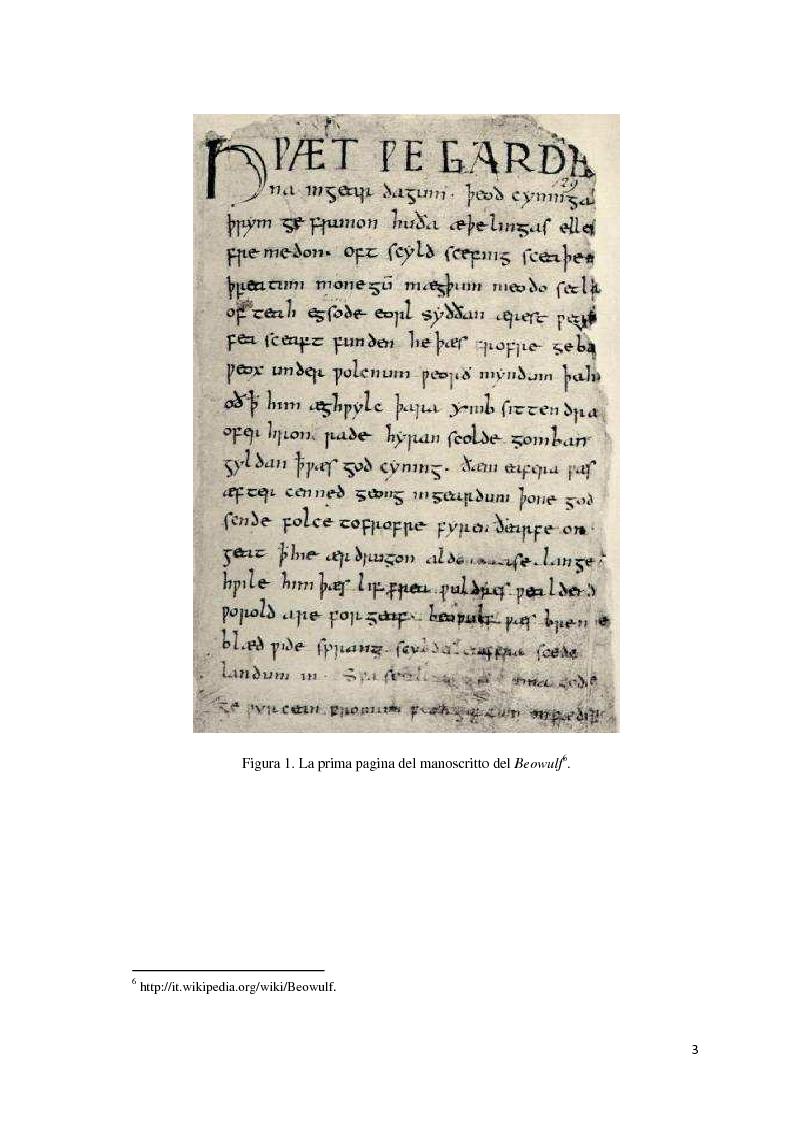Anteprima della tesi: Elementi cristiani nel Beowulf, Pagina 4