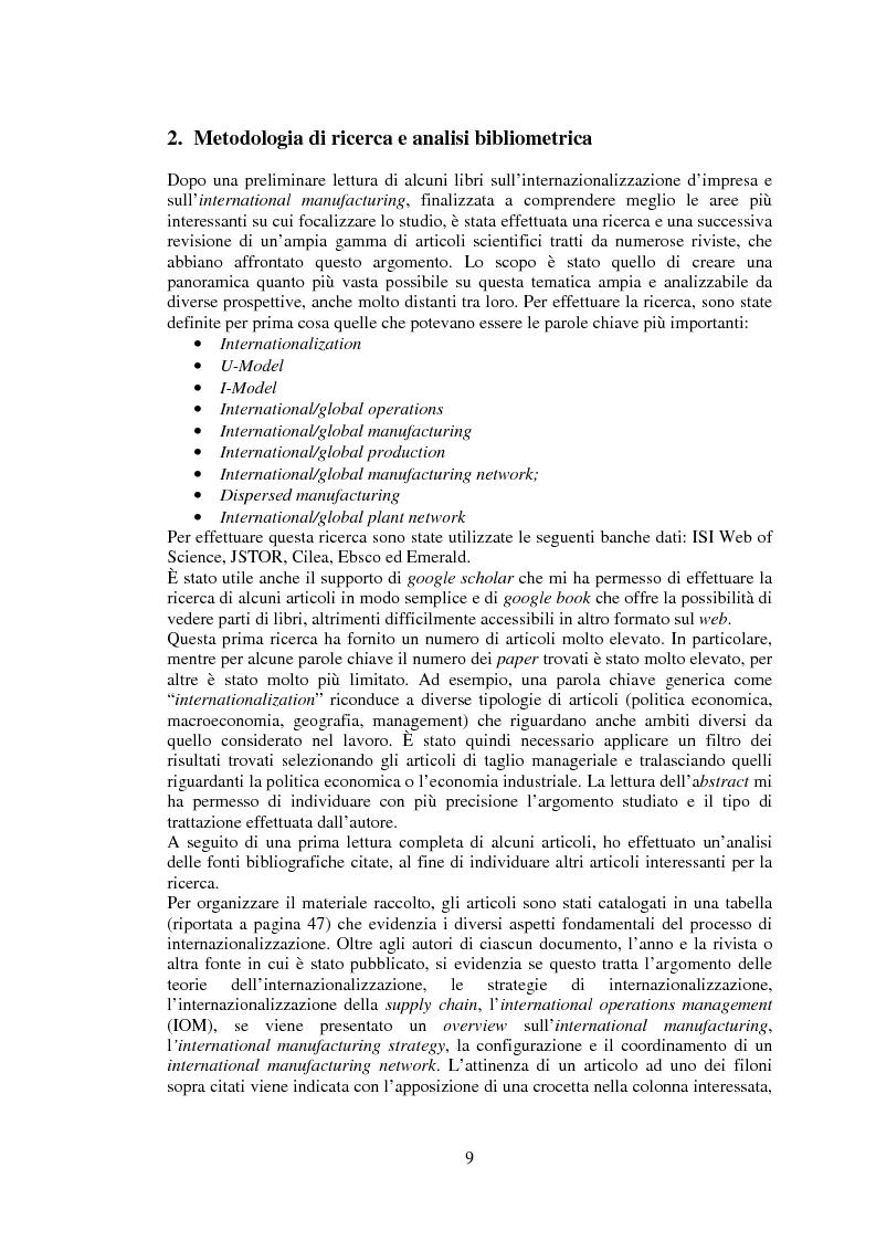 Anteprima della tesi: International Manufacturing: una review della letteratura, Pagina 2