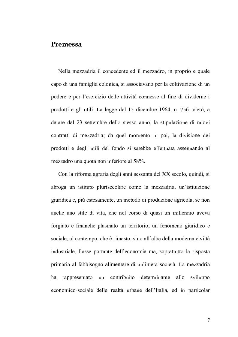 Anteprima della tesi: Il Contratto di Mezzadria nella Legislazione Statutaria Toscana tra XIII e XIV Secolo, Pagina 2