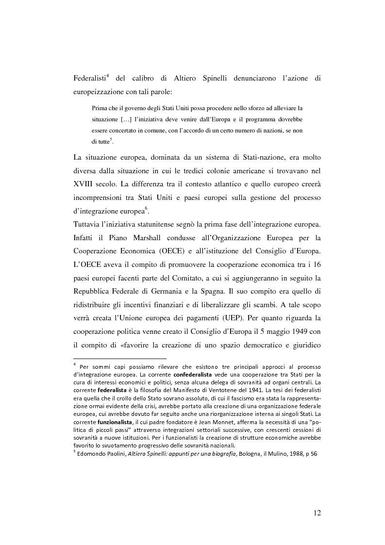 Anteprima della tesi: La rappresentanza degli interessi settoriali nel processo d'integrazione europea: le lobby agricole italiane e la riforma dell'organizzazione comune del mercato vitivinicolo, Pagina 8