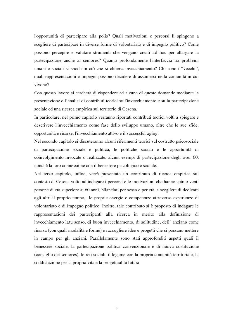 Anteprima della tesi: Percorsi di partecipazione over 60 : un contributo di ricerca empirica nel territorio di Cesena, Pagina 4