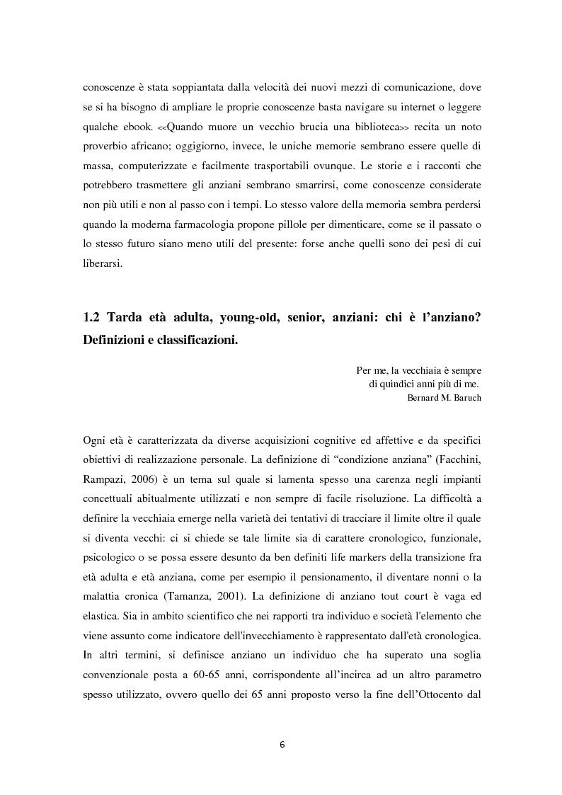 Anteprima della tesi: Percorsi di partecipazione over 60 : un contributo di ricerca empirica nel territorio di Cesena, Pagina 7
