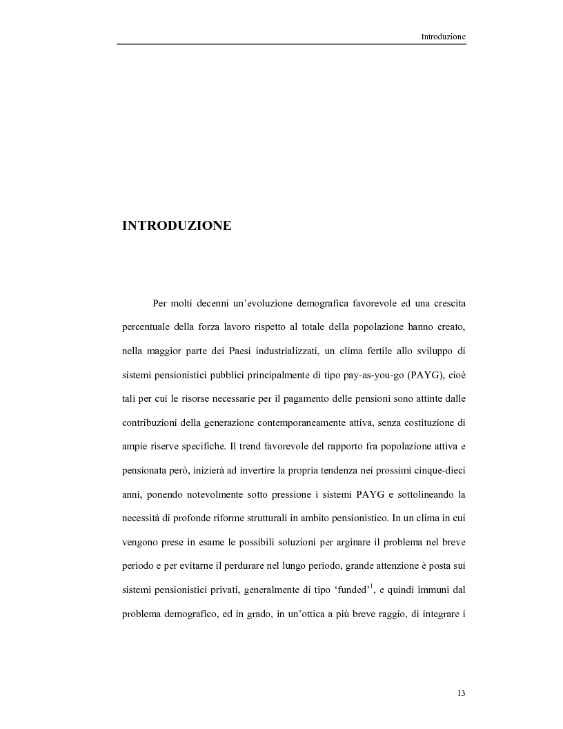 Anteprima della tesi: Il secondo pilastro pensionistico: difficoltà di comparazione in un'ottica cross-country, Pagina 1