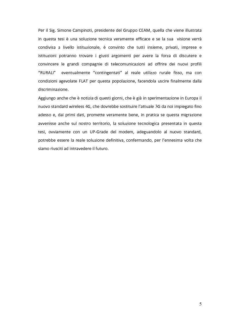Anteprima della tesi: Studio di fattibilità e progettazione di una rete di conversione 3G/WiFi 2,4 GHz in ambiente rurale, Pagina 3
