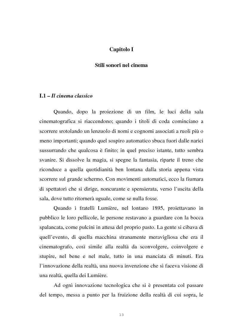 Anteprima della tesi: Il suono cinematografico: dalla presa diretta alla sintesi sonora, Pagina 10