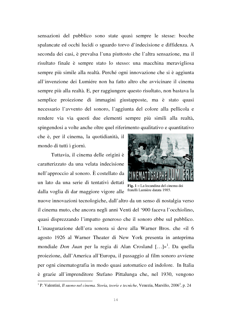 Anteprima della tesi: Il suono cinematografico: dalla presa diretta alla sintesi sonora, Pagina 11