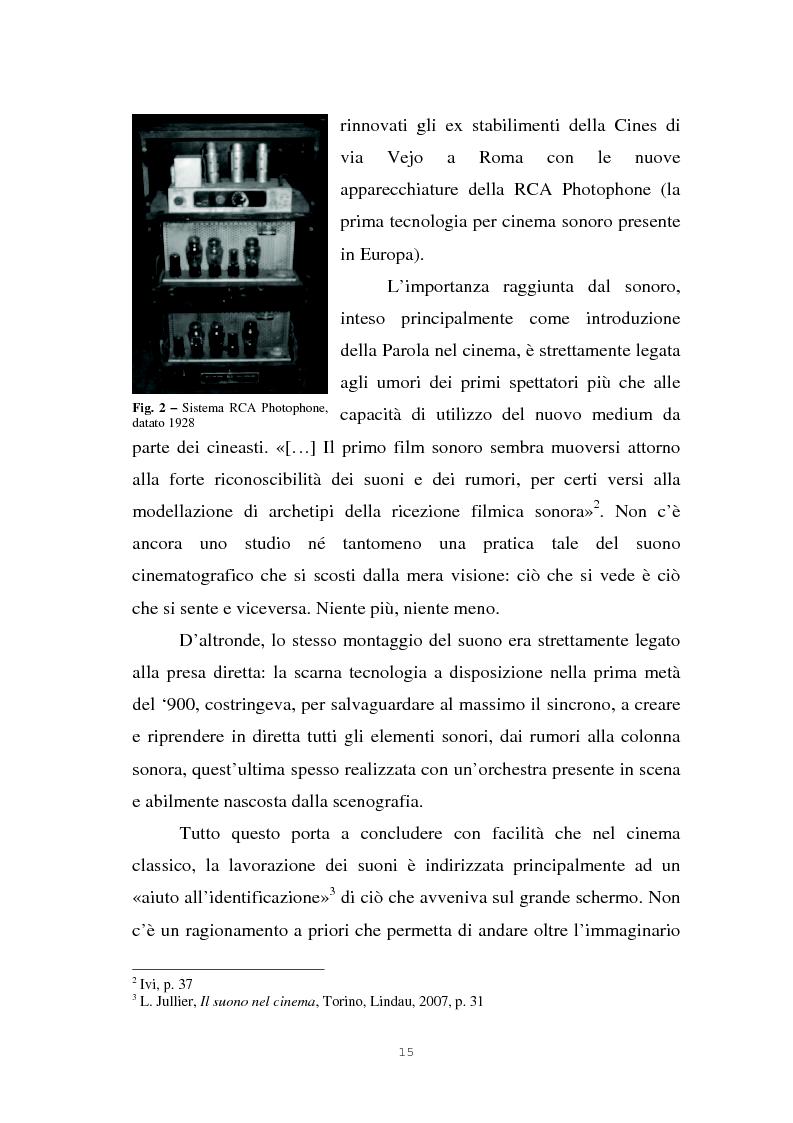 Anteprima della tesi: Il suono cinematografico: dalla presa diretta alla sintesi sonora, Pagina 12