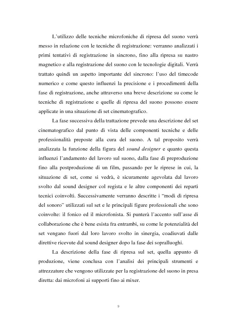 Anteprima della tesi: Il suono cinematografico: dalla presa diretta alla sintesi sonora, Pagina 6