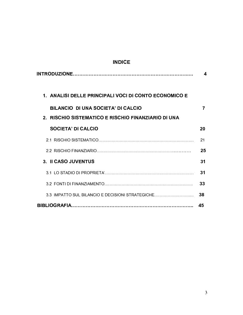 Indice della tesi: Lo sport e la creazione di valore: una sfida da vincere oltre la gara, Pagina 1