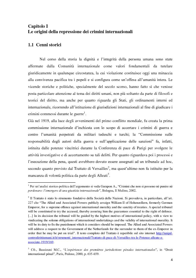 Il fondamento giuridico e la legittimit� dei Tribunali penali internazionali - Tesi di Laurea