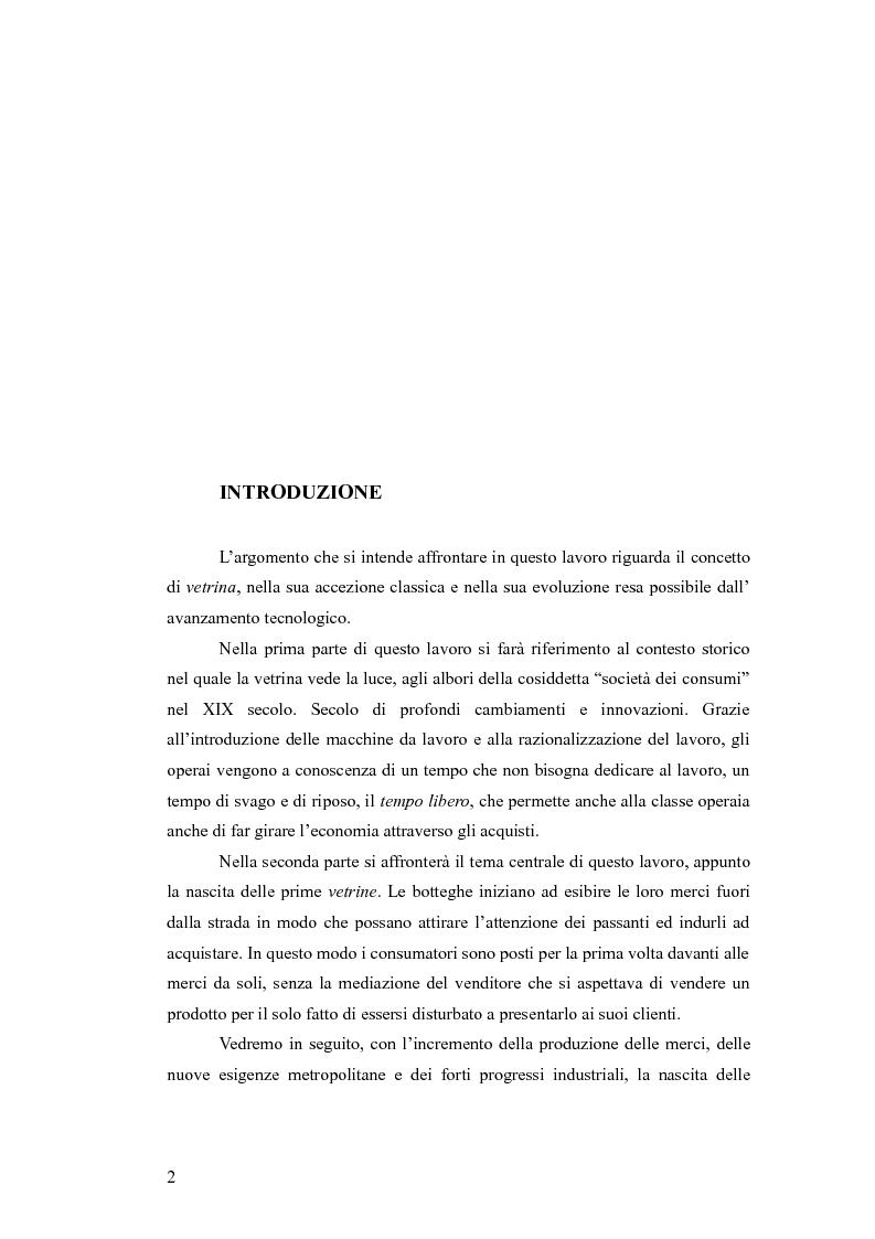 Anteprima della tesi: Dal vetro allo schermo. L'esibizione delle merci dalla strada al web., Pagina 2