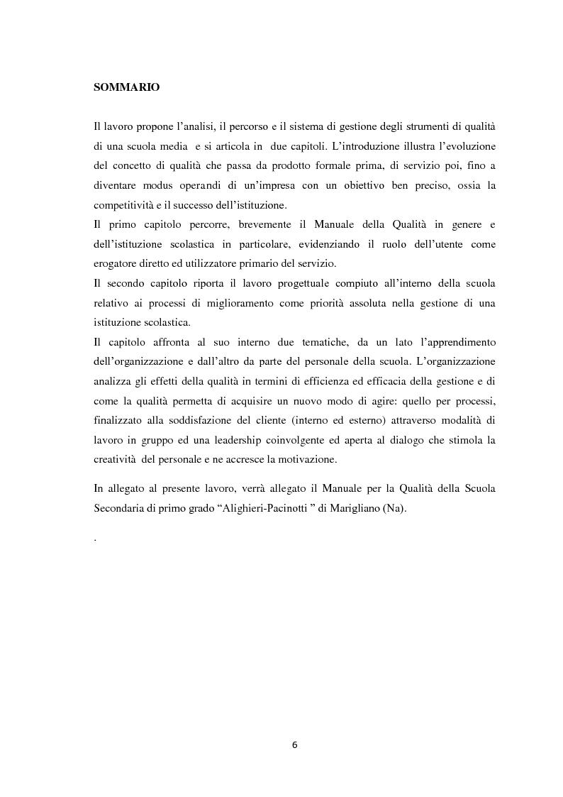 Anteprima della tesi: Il sistema di gestione della Qualità, Pagina 4