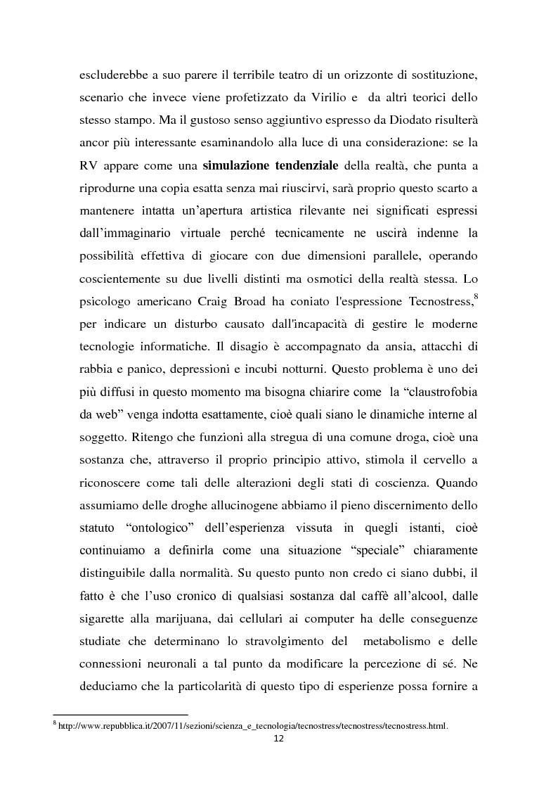 Estratto dalla tesi: L'interazione del soggetto con il Cyberspazio. L'asse Lévy - Zizek - Lacan
