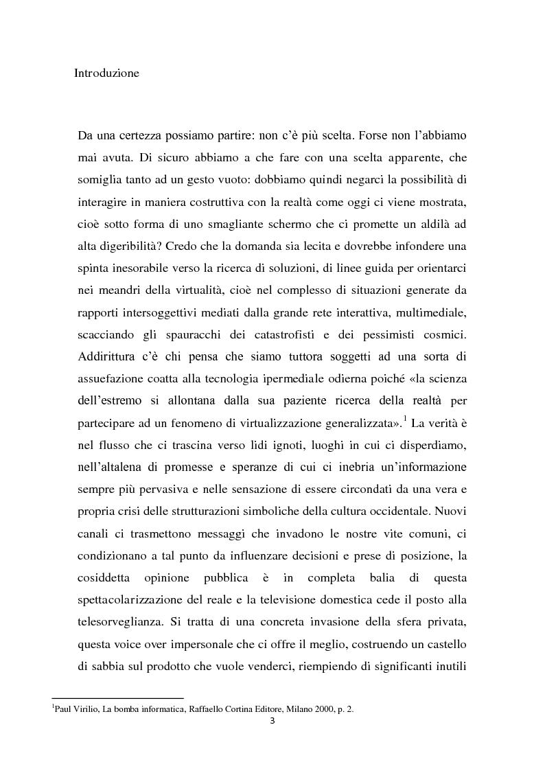 Anteprima della tesi: L'interazione del soggetto con il Cyberspazio. L'asse Lévy - Zizek - Lacan, Pagina 2