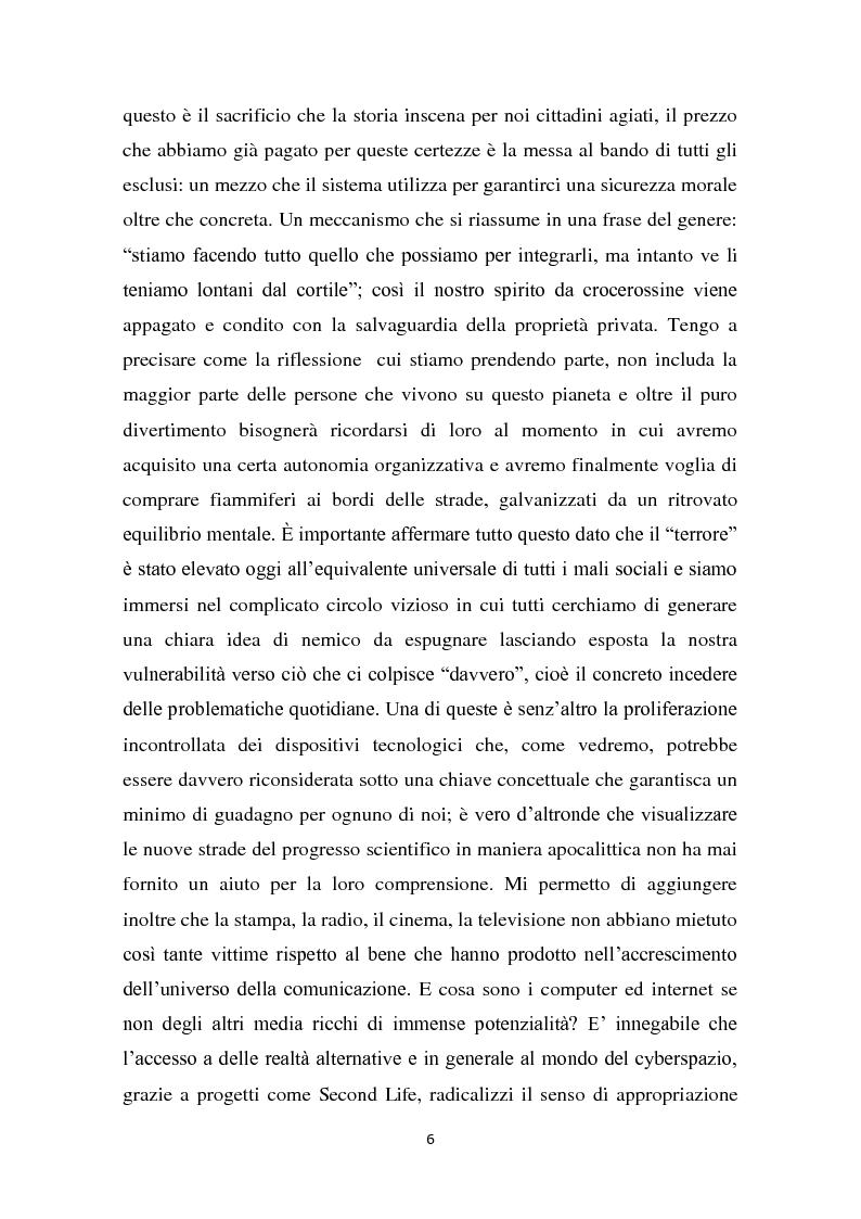 Anteprima della tesi: L'interazione del soggetto con il Cyberspazio. L'asse Lévy - Zizek - Lacan, Pagina 5