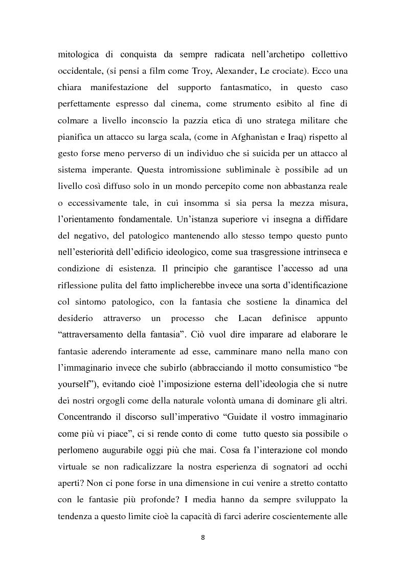 Anteprima della tesi: L'interazione del soggetto con il Cyberspazio. L'asse Lévy - Zizek - Lacan, Pagina 7