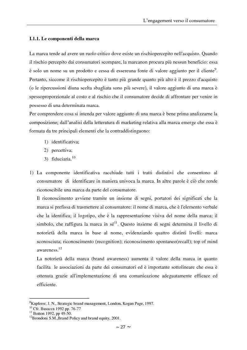 Anteprima della tesi: L'engagement del consumatore verso la marca:la prospettiva del mercato della comunicazione., Pagina 10