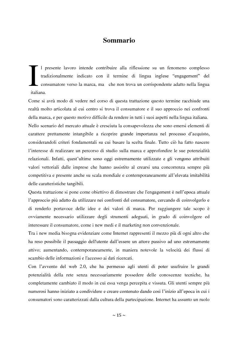 Anteprima della tesi: L'engagement del consumatore verso la marca:la prospettiva del mercato della comunicazione., Pagina 2
