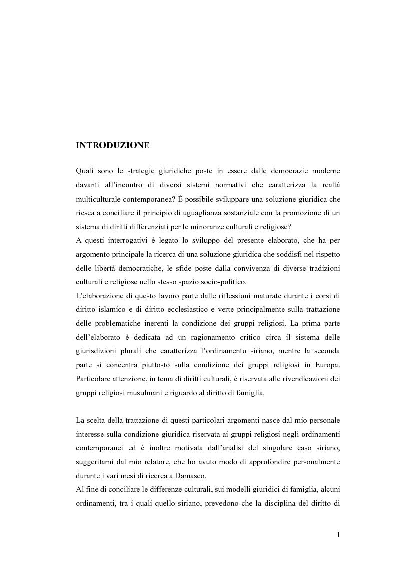 Il Sistema delle Giurisdizioni Plurali negli Ordinamenti Giuridici Contemporanei: Analisi del Caso Siriano - Tesi di Lau...