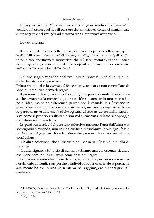 Anteprima della tesi: L'educazione scientifica nella scuola dell'infanzia per lo sviluppo del pensiero critico del bambino, Pagina 8