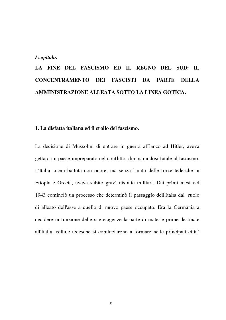 Anteprima della tesi: I campi di concentramento in Italia per fascisti (1944-46), Pagina 1