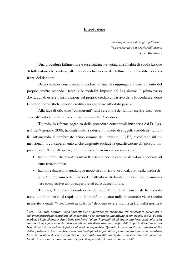 Anteprima della tesi: Il piano di riparto nel fallimento., Pagina 2