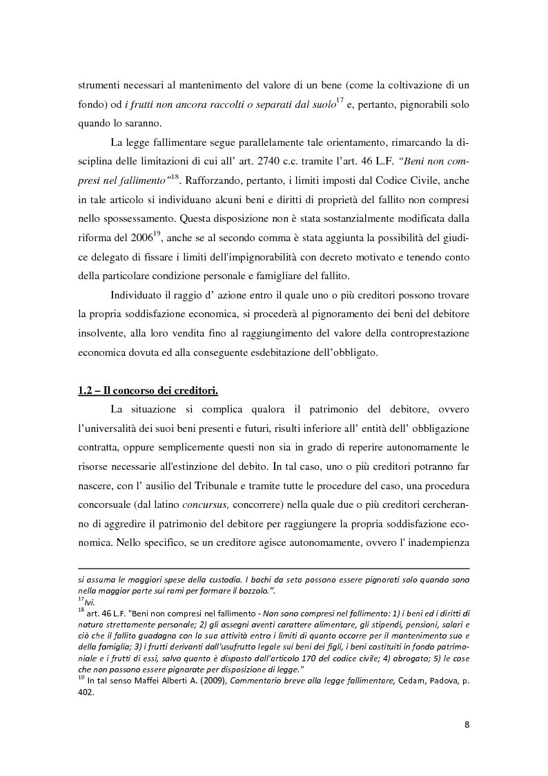 Anteprima della tesi: Il piano di riparto nel fallimento., Pagina 9