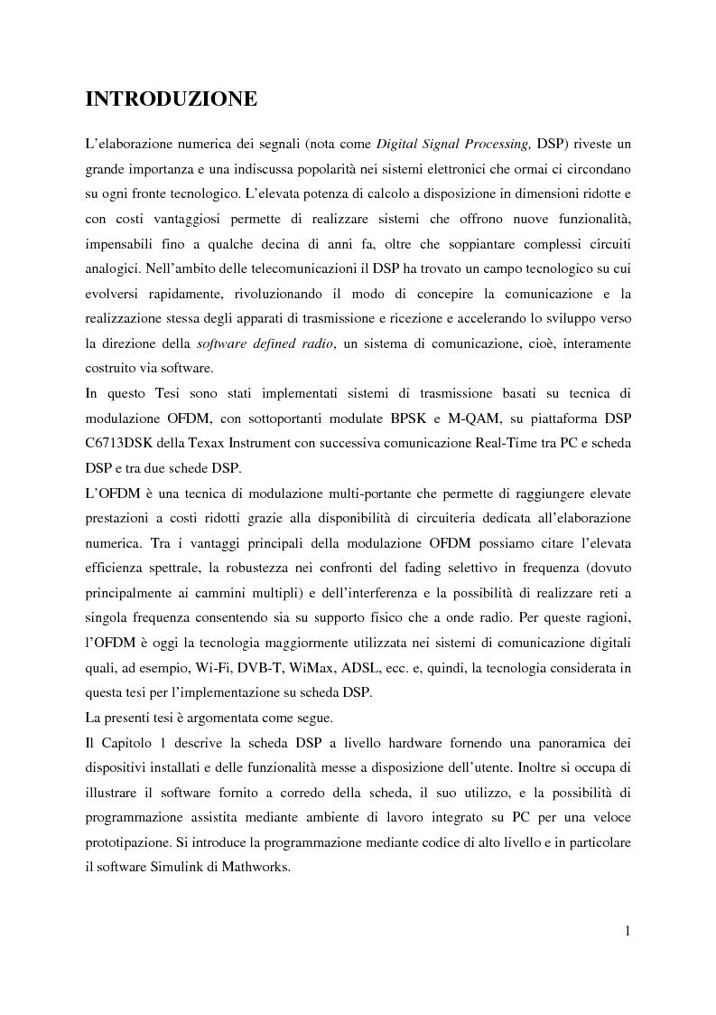 Implementazione e caratterizzazione sperimentale di sistemi OFDM - Tesi di Laurea