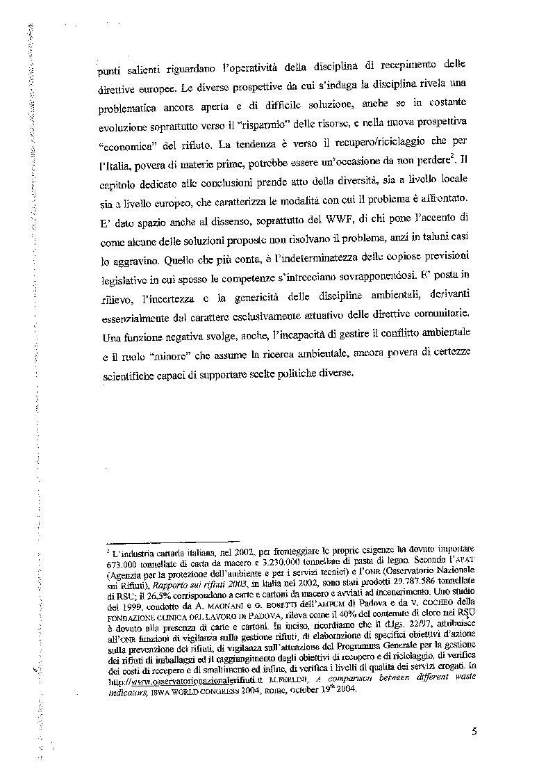Anteprima della tesi: Principi generali della disciplina dei rifiuti, Pagina 3