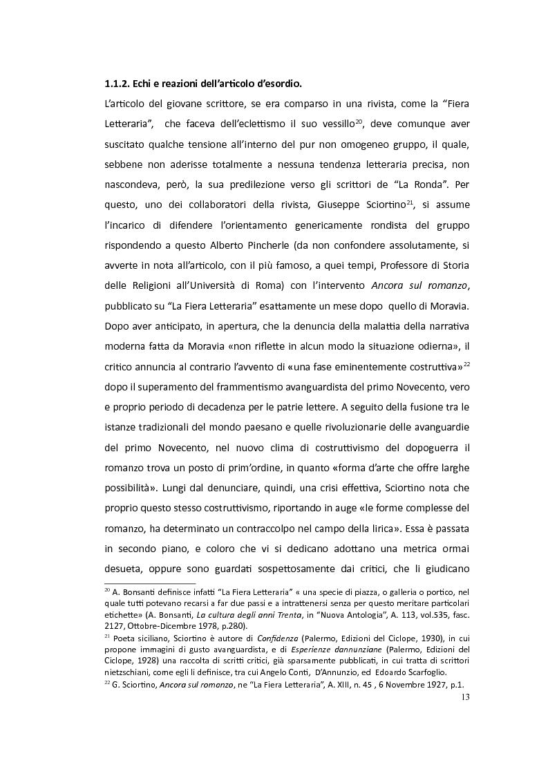 Anteprima della tesi: Moravia saggista in articoli noti o sconosciuti: 1927-1945, Pagina 10
