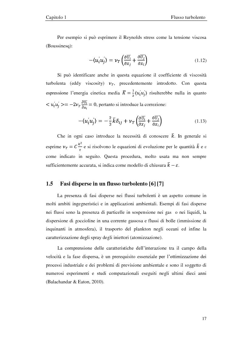 Estratto dalla tesi: Studio sperimentale di un flusso bifase e caratterizzazione della dispersione di particelle solide