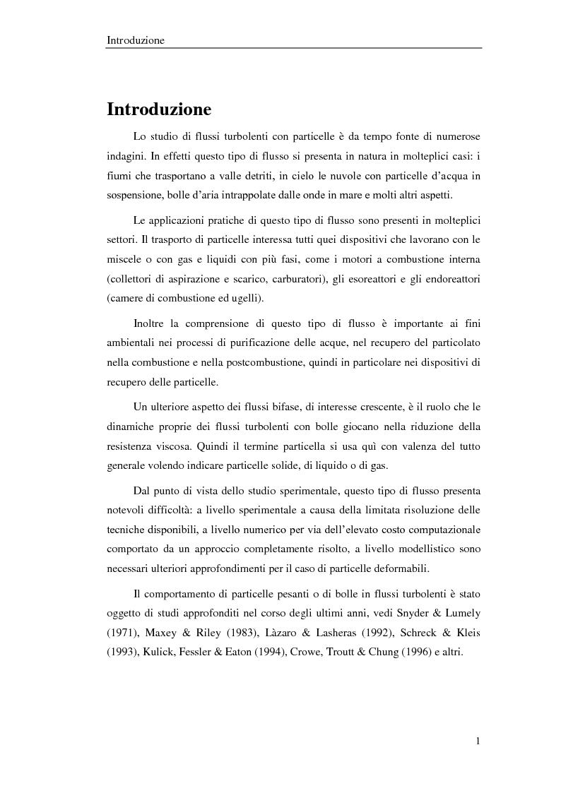 Anteprima della tesi: Studio sperimentale di un flusso bifase e caratterizzazione della dispersione di particelle solide, Pagina 2