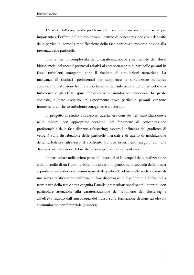 Anteprima della tesi: Studio sperimentale di un flusso bifase e caratterizzazione della dispersione di particelle solide, Pagina 3