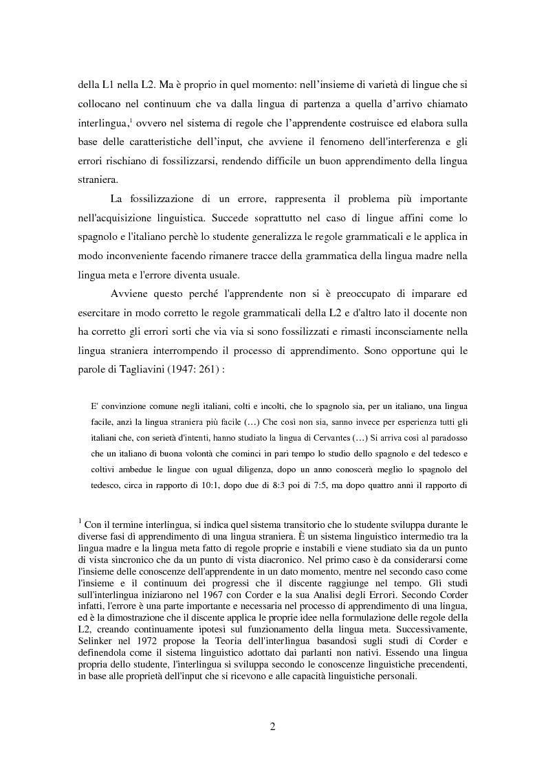 Anteprima della tesi: L'interferenza fonologica in un campione di apprendenti di spagnolo L.S di area lombarda. Il caso del vocalismo., Pagina 3