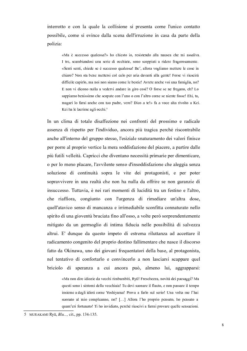 Estratto dalla tesi: Decadi di decadenza: l'opera di Murakami Ryū