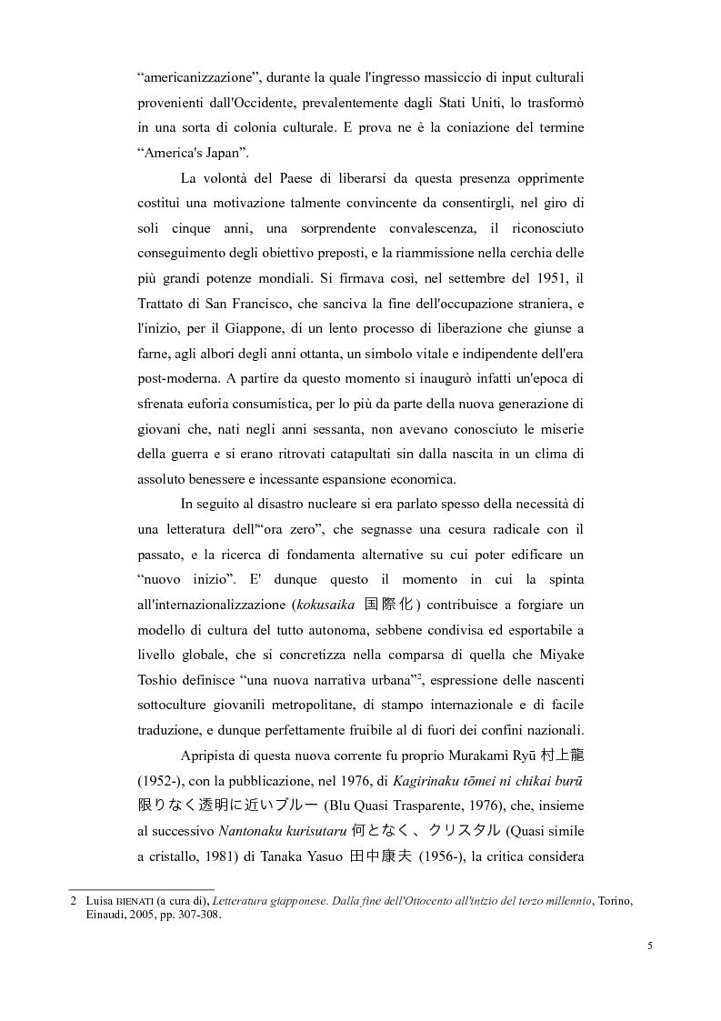 Anteprima della tesi: Decadi di decadenza: l'opera di Murakami Ryū, Pagina 5