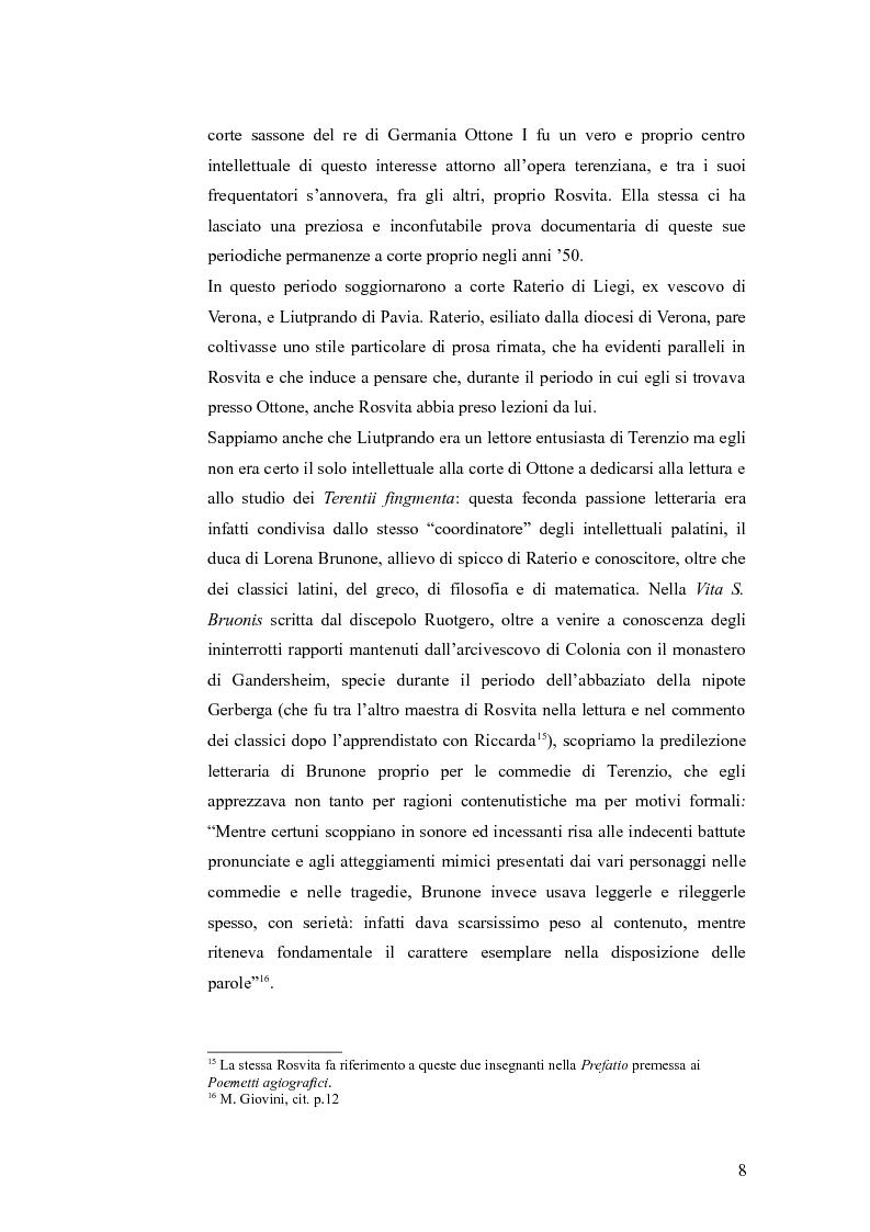 Estratto dalla tesi: Gli influssi terenziani in Rosvita di Gandersheim