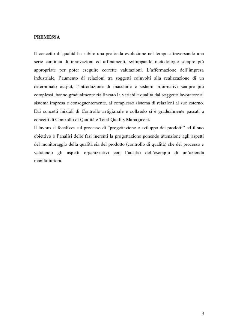 Anteprima della tesi: La qualità da obiettivo di conformità a strumento di ottimizzazione in un'azienda manifatturiera, Pagina 2