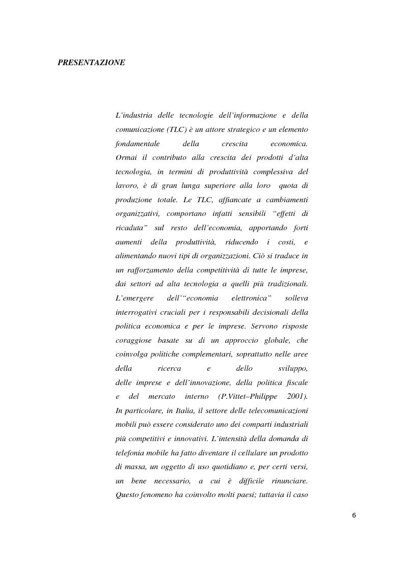 Strategie competitive nel settore della telefonia mobile: il caso WIND - Tesi di Laurea