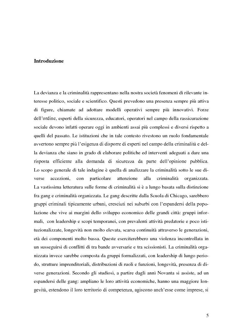 Devianza e criminalità: aspetti culturali e organizzativi. La mafia, le mafie nel mondo della globalizzazione. - Tesi di...