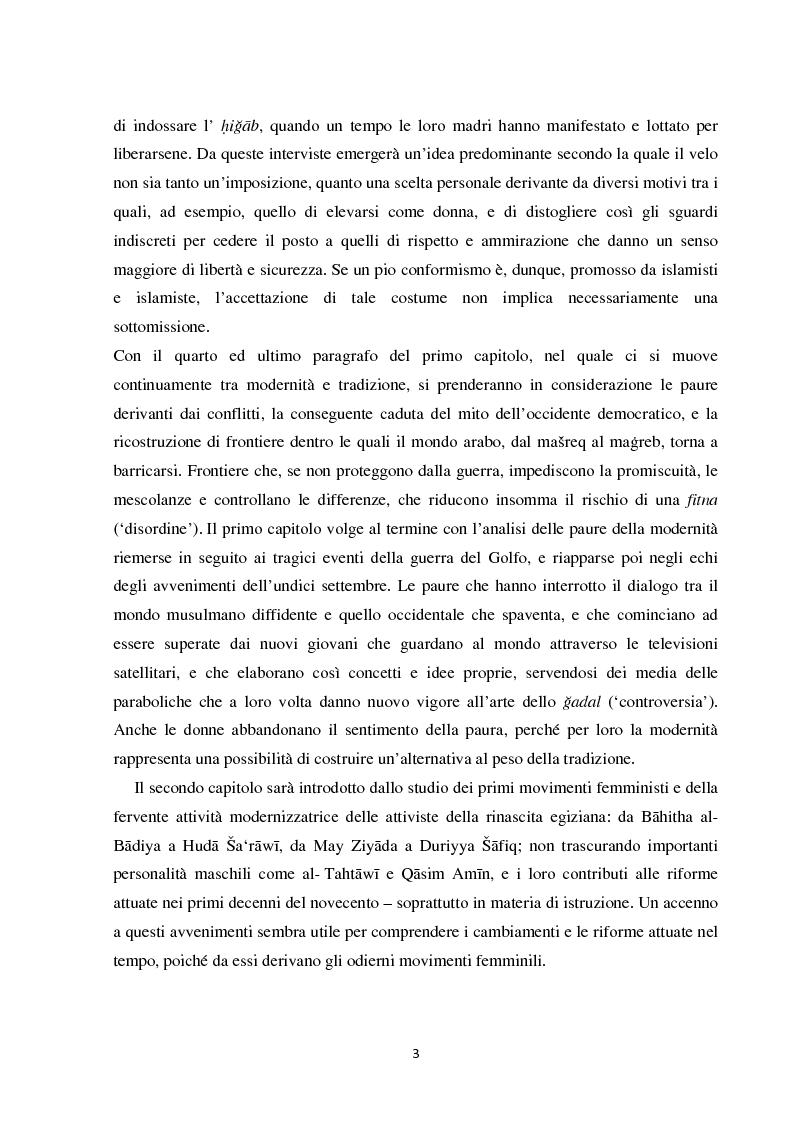 Anteprima della tesi: Movimenti non conflittuali per un cambiamento: l'impegno di intellettuali musulmane., Pagina 4