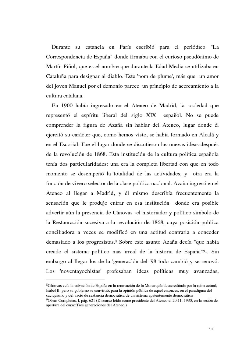 Anteprima della tesi: La razon olvidada - Los discursos políticos de Manuel Azaña, Pagina 14